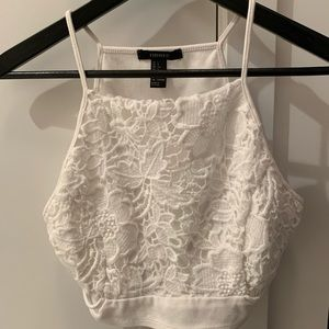 White Forever 21 Crop Top L